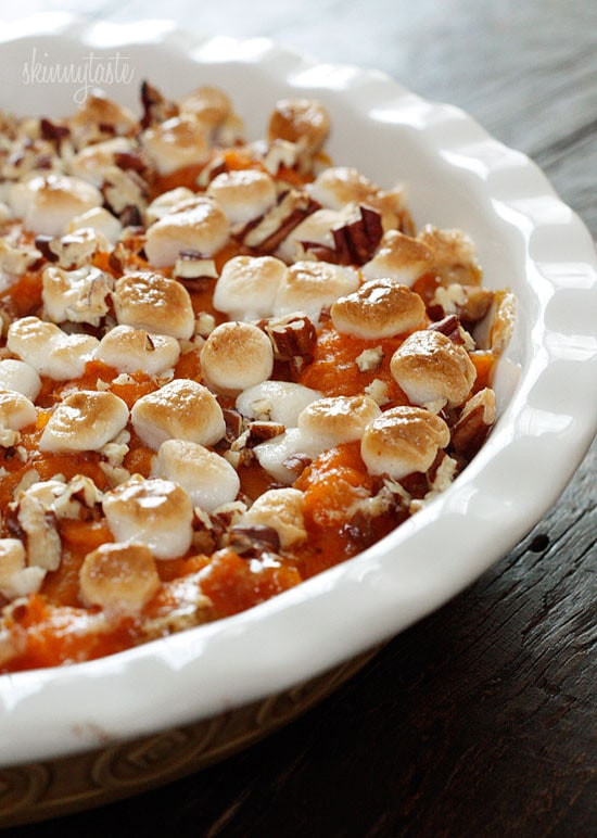 Sweet Potato Casserole With Pecans And Marshmallows  Sweet Potato Casserole
