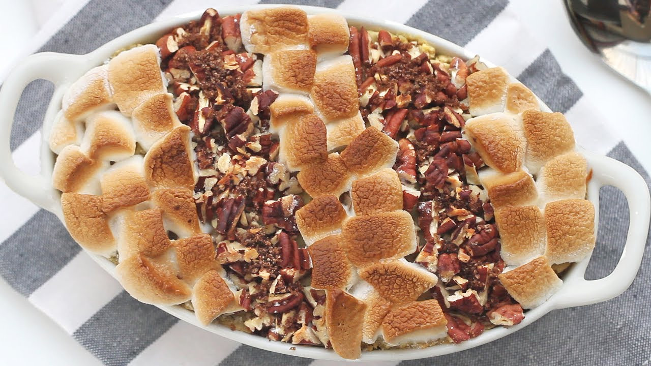 Sweet Potato Casserole With Pecans And Marshmallows  can d sweet potatoes with marshmallows using canned yams
