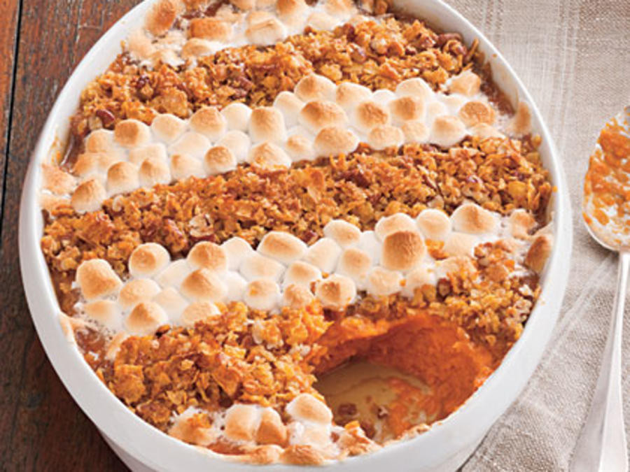 Sweet Potato Casserole With Pecans And Marshmallows  sweet potato casserole with canned sweet potatoes
