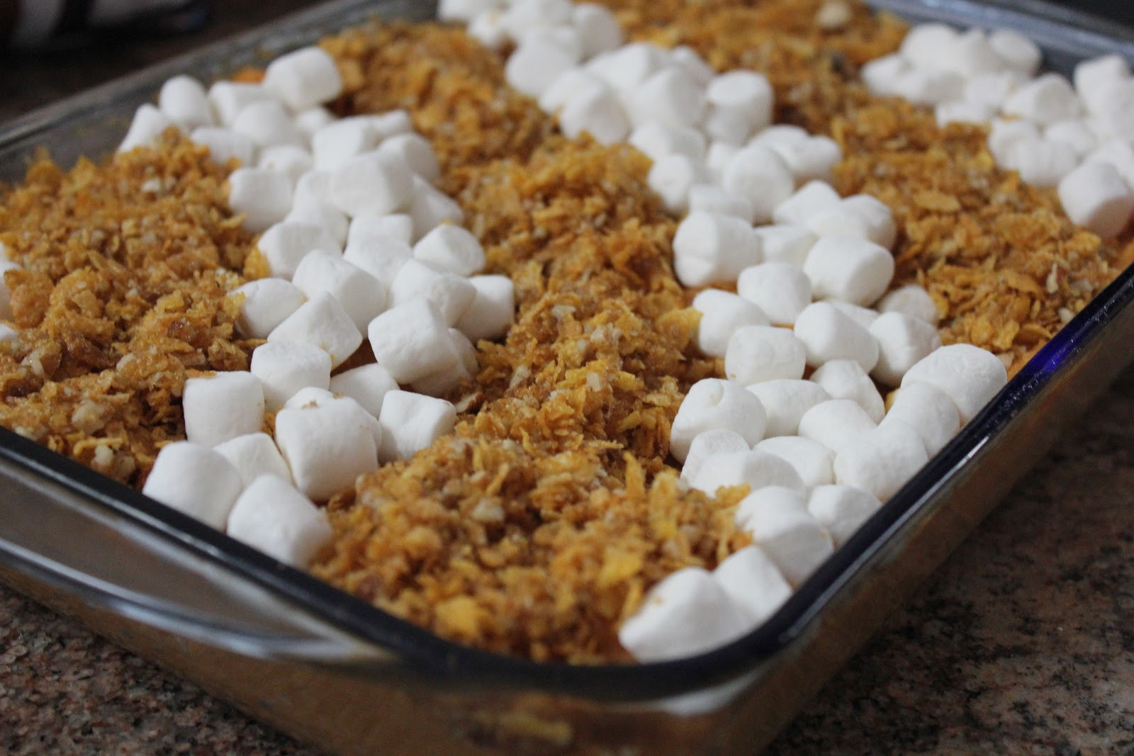 Sweet Potato Casserole With Pecans And Marshmallows  simply made with love Cornflake Pecan and Marshmallow