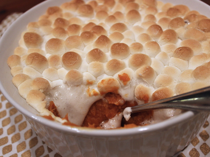 Sweet Potato Marshmallow  Best ever Thanksgiving sweet potatoes with marshmallows