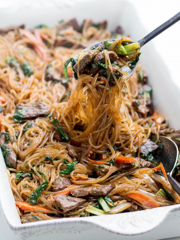 Sweet Potato Noodles Recipe  Korean Stir Fried Sweet Potato Noodles Recipe