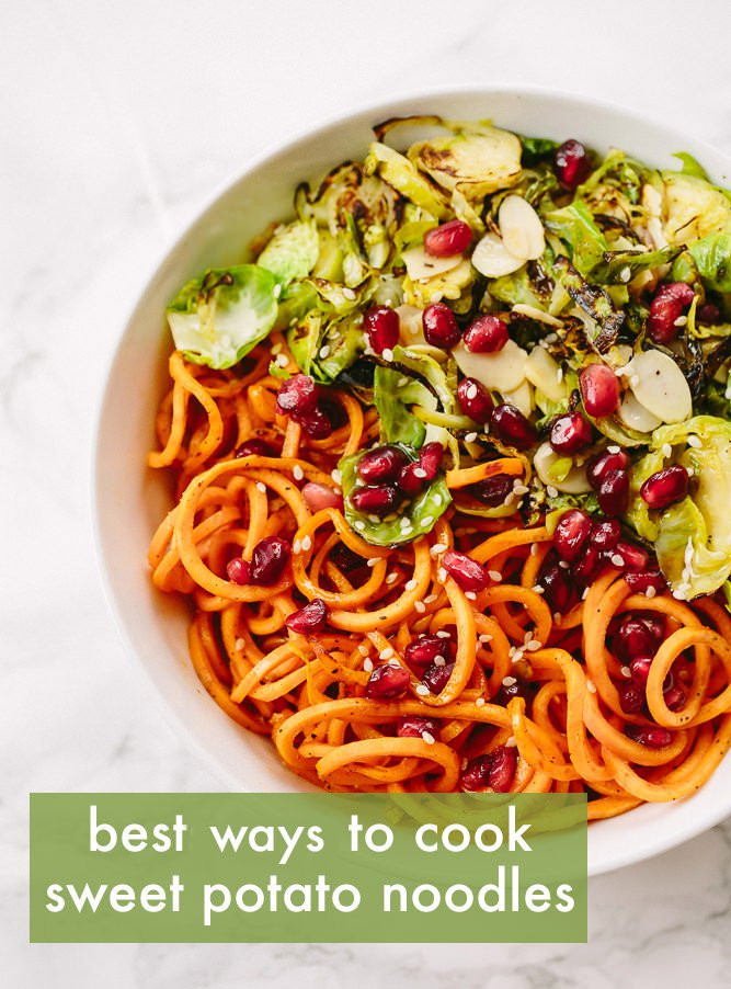 Sweet Potato Noodles Recipe  The Best Ways to Cook Spiralized Sweet Potato Noodles