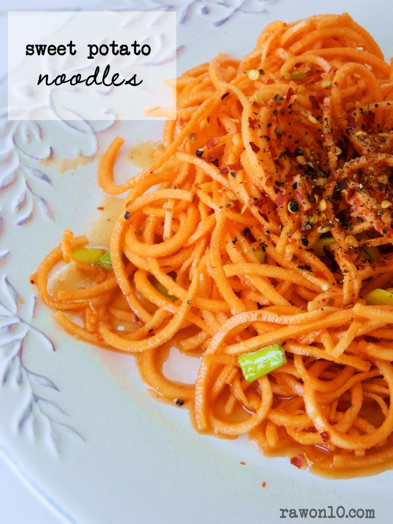 Sweet Potato Noodles Recipe  Raw on $10 a Day or Less Raw Food Recipe Sweet Potato
