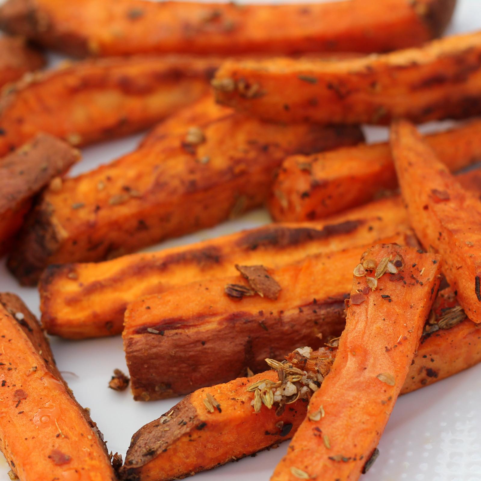 Sweet Potato Oven Fries  orange recipe the world's best oven sweet potato fries