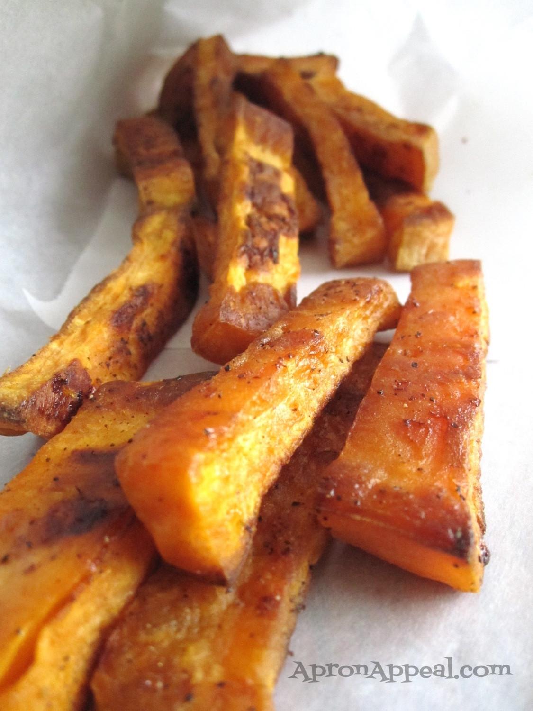 Sweet Potato Oven Fries  Apron Appeal Sweet Potato Oven Fries