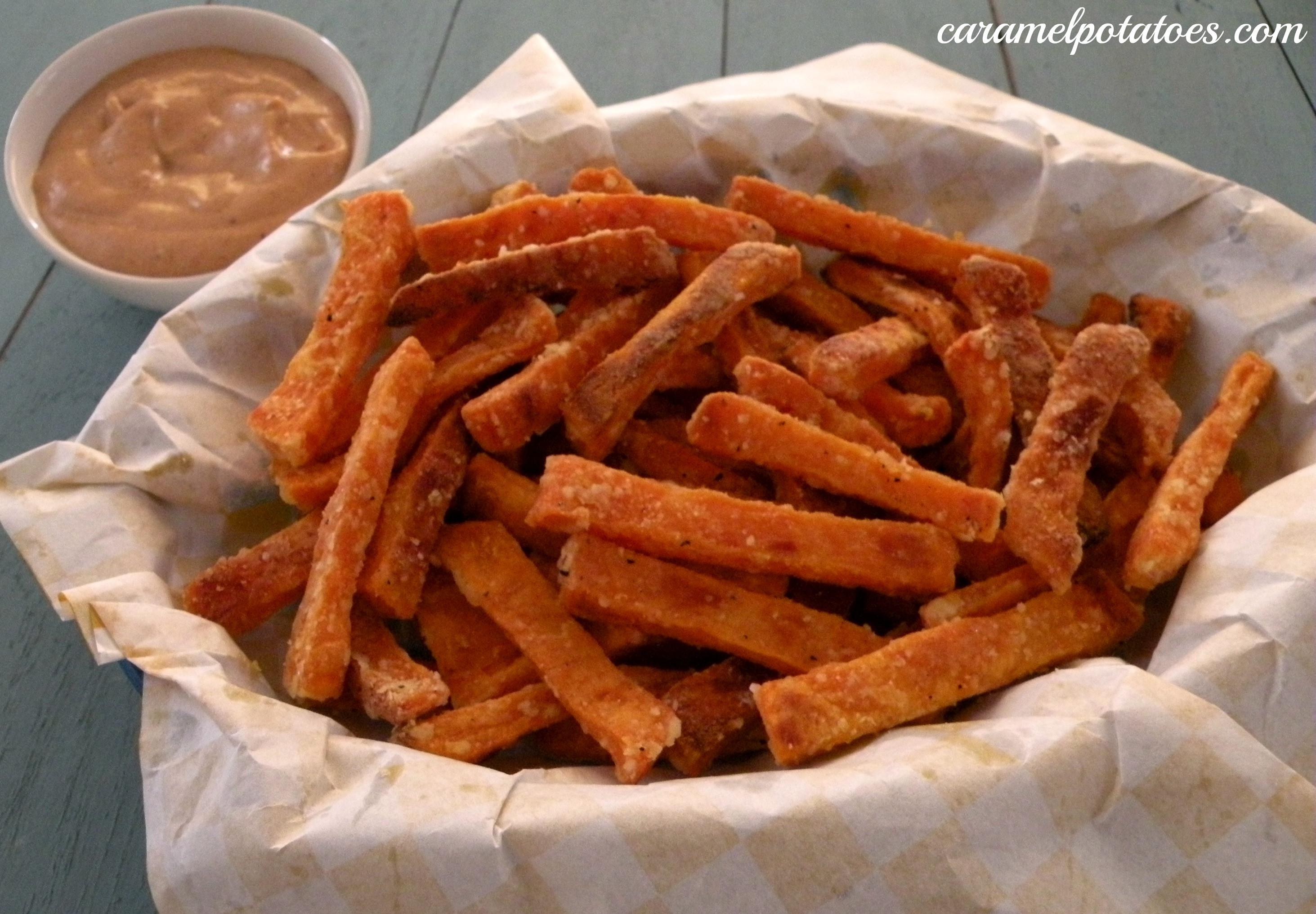 Sweet Potato Oven Fries  Caramel Potatoes Oven Baked Sweet Potato Fries