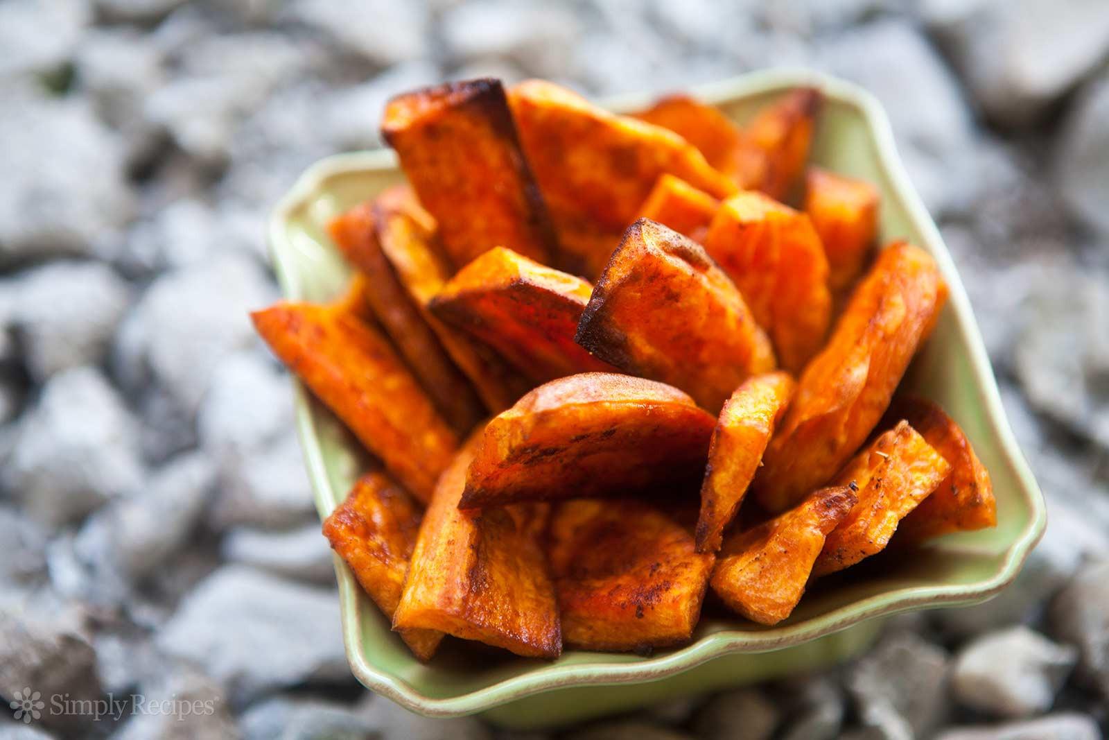 Sweet Potato Oven Fries  Oven Baked Sweet Potato Fries Recipe