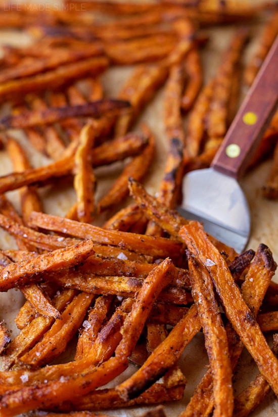 Sweet Potato Oven Fries  Perfect Baked Sweet Potato Fries Life Made Simple