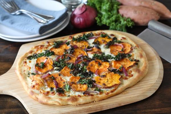 Sweet Potato Pizza  Sweet Potato Kale Pizza Recipe Potato Pizza Recipe