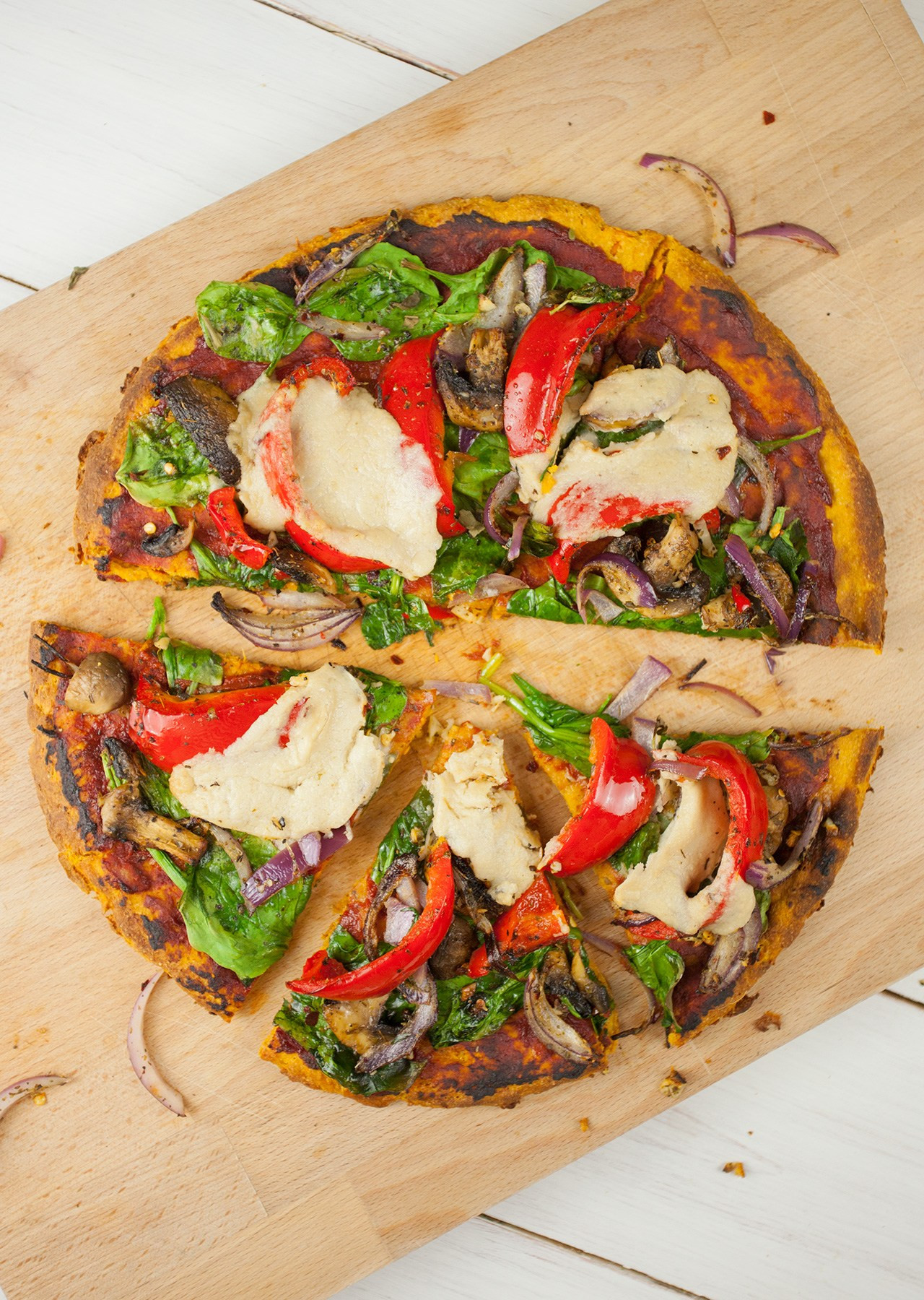 Sweet Potato Pizza  15 Low Carb Vegan Healthy Pizza Crust Recipes