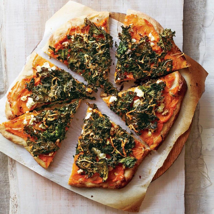 Sweet Potato Pizza  Sweet Potato and Kale Pizza recipe
