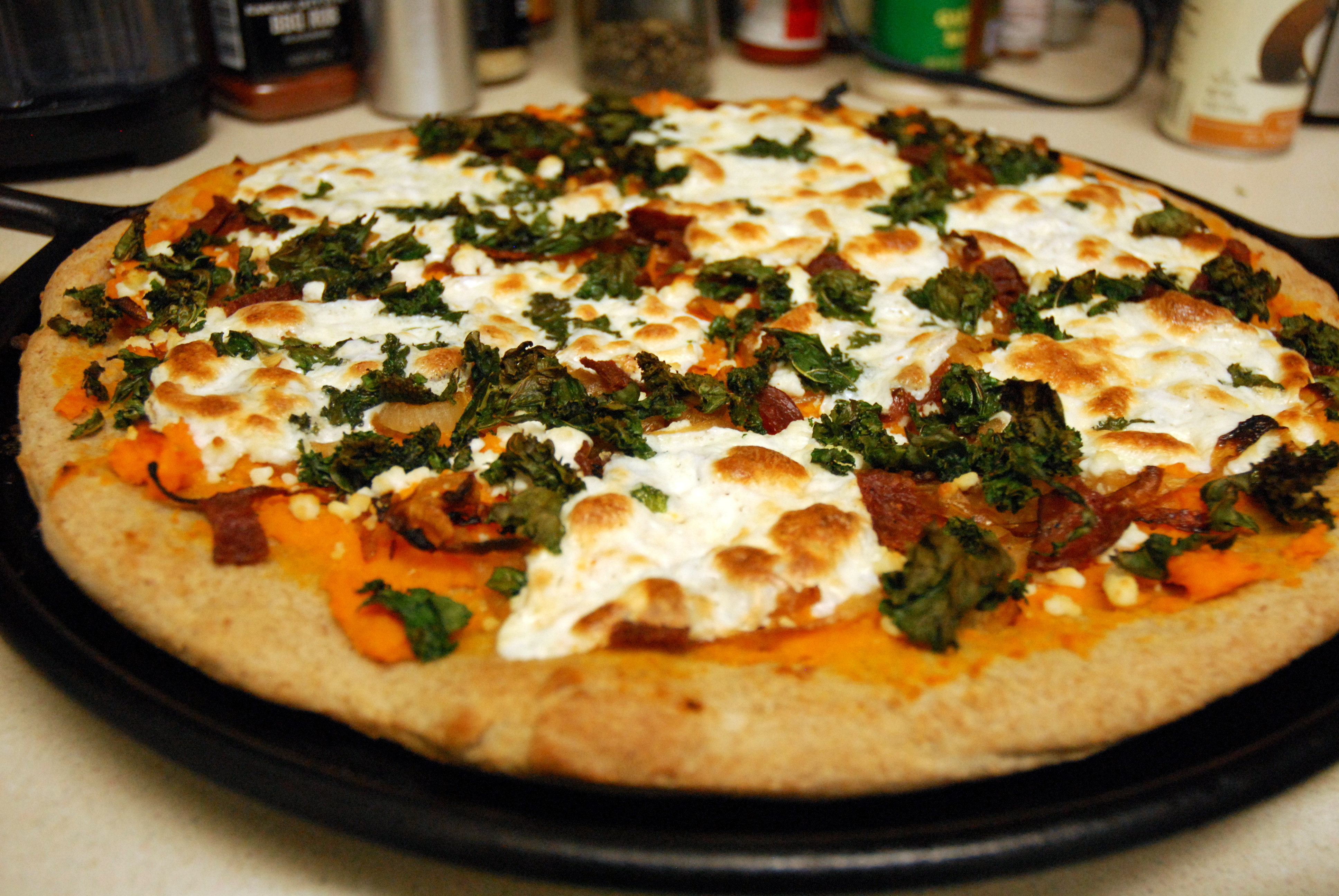 Sweet Potato Pizza  Rustic Pizza with Sweet Potato Sauce