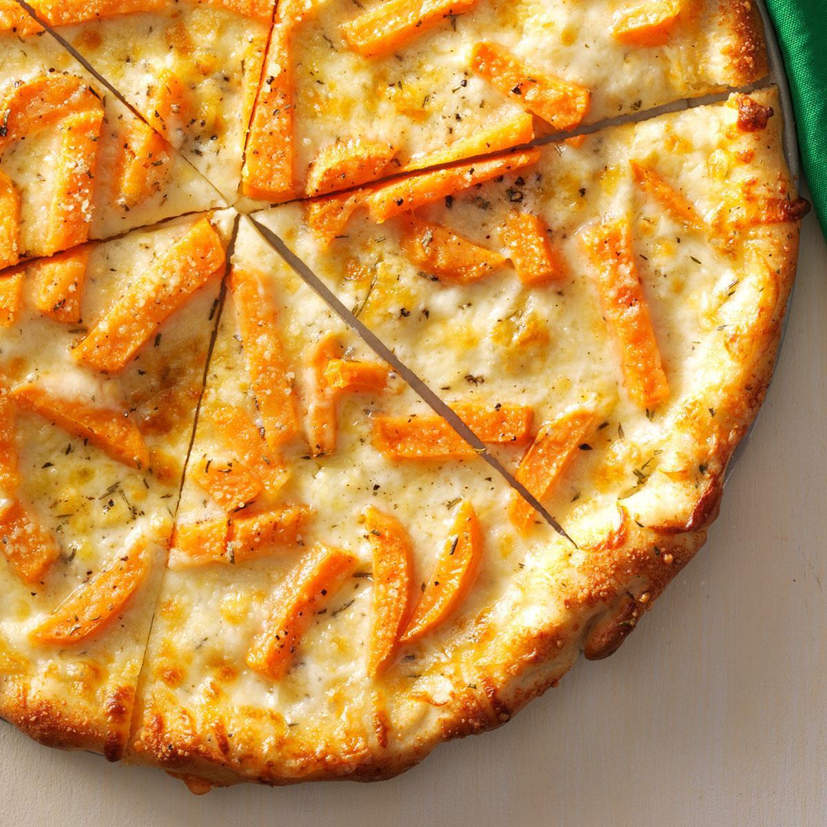 Sweet Potato Pizza  Fontina & Sweet Potato Pizza Recipe