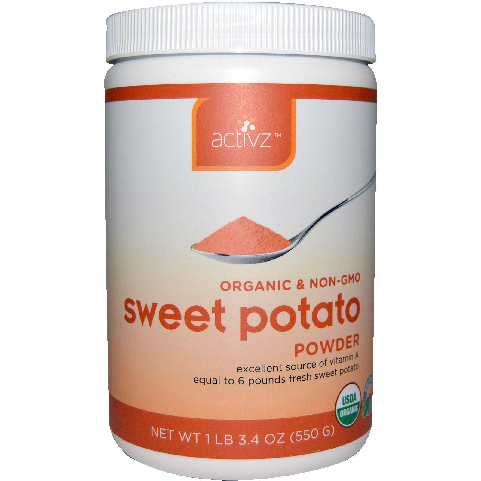 Sweet Potato Powder  Activz Sweet Potato Powder 3 4 oz 550 g iHerb