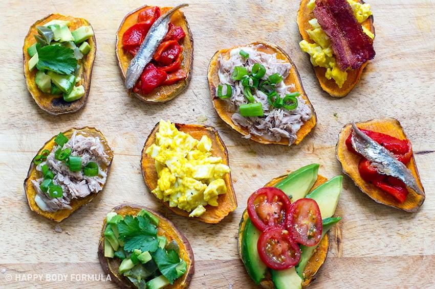 Sweet Potato Toast  15 Sweet Potato Toast Ideas & Recipes Happy Body Formula