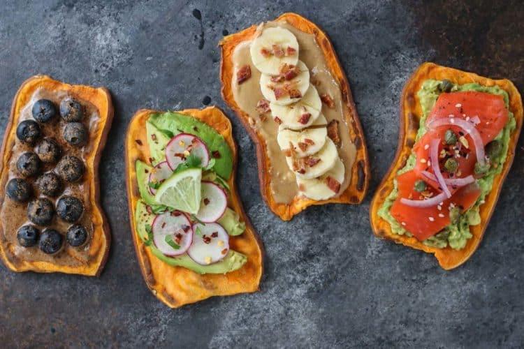 Sweet Potato Toast  Oven Baked Sweet Potato Toast 4 Ways The Real Food