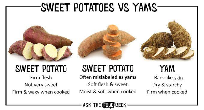 Sweet Potato Vs Yam  Sweet potatoes Recipes in Season