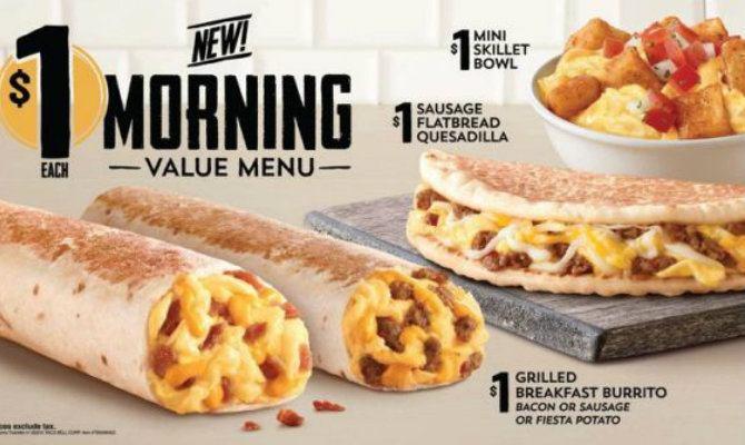 Taco Bell Dessert Menu  Taco Bell Is Testing a Dollar Breakfast Menu in California