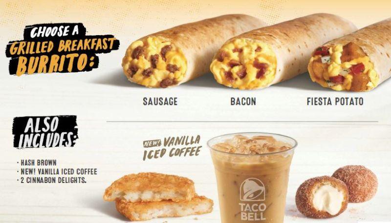 Taco Bell Dessert Menu  Taco Bell Tests $3 Breakfast Meal Deal
