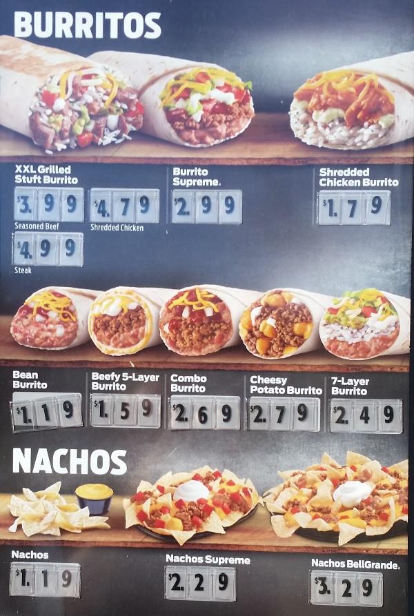 Taco Bell Dessert Menu  Fast Food Source fast food menus and blogs Taco Bell Menu