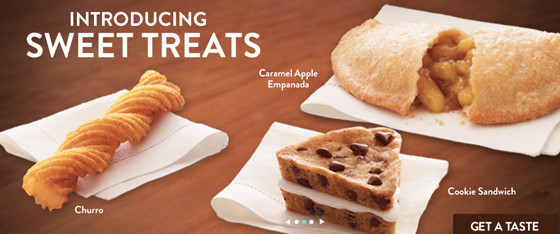 Taco Bell Dessert Menu  brandchannel Do You Want a Churro With Your Doritos Locos