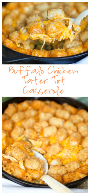 Tater Tot Casserole With Cream Of Chicken  Buffalo Chicken Tater Tot Casserole