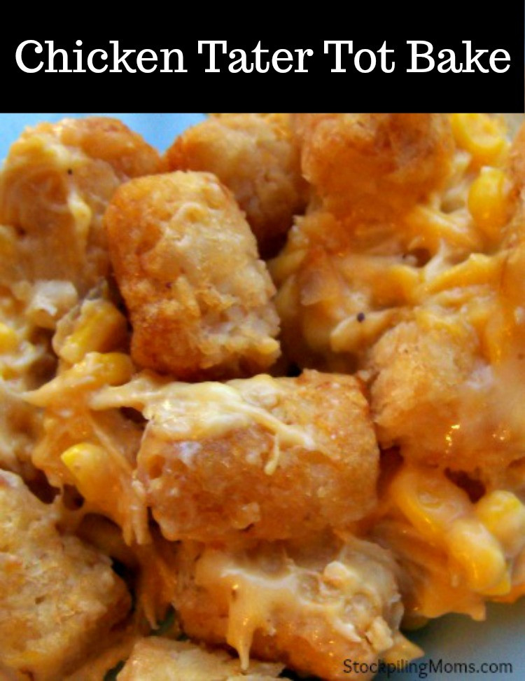 Tater Tot Casserole With Cream Of Chicken  Chicken Tator Tot Bake