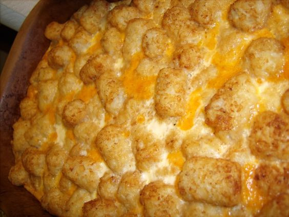 Tater Tot Casserole With Cream Of Chicken  Tater tots Tater tot casserole and Casseroles on Pinterest