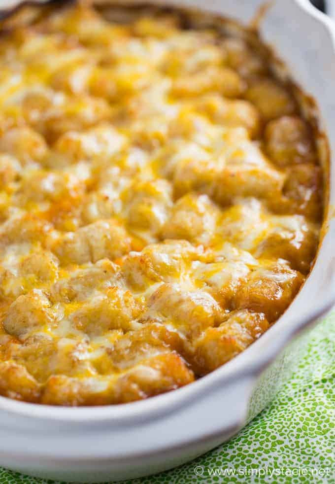 Tater Tots Casserole  Mexican Tater Tot Casserole Simply Stacie