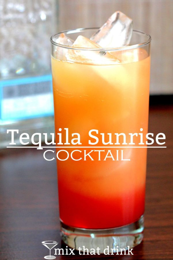 Tequila Mix Drinks  Tequila Sunrise cocktail
