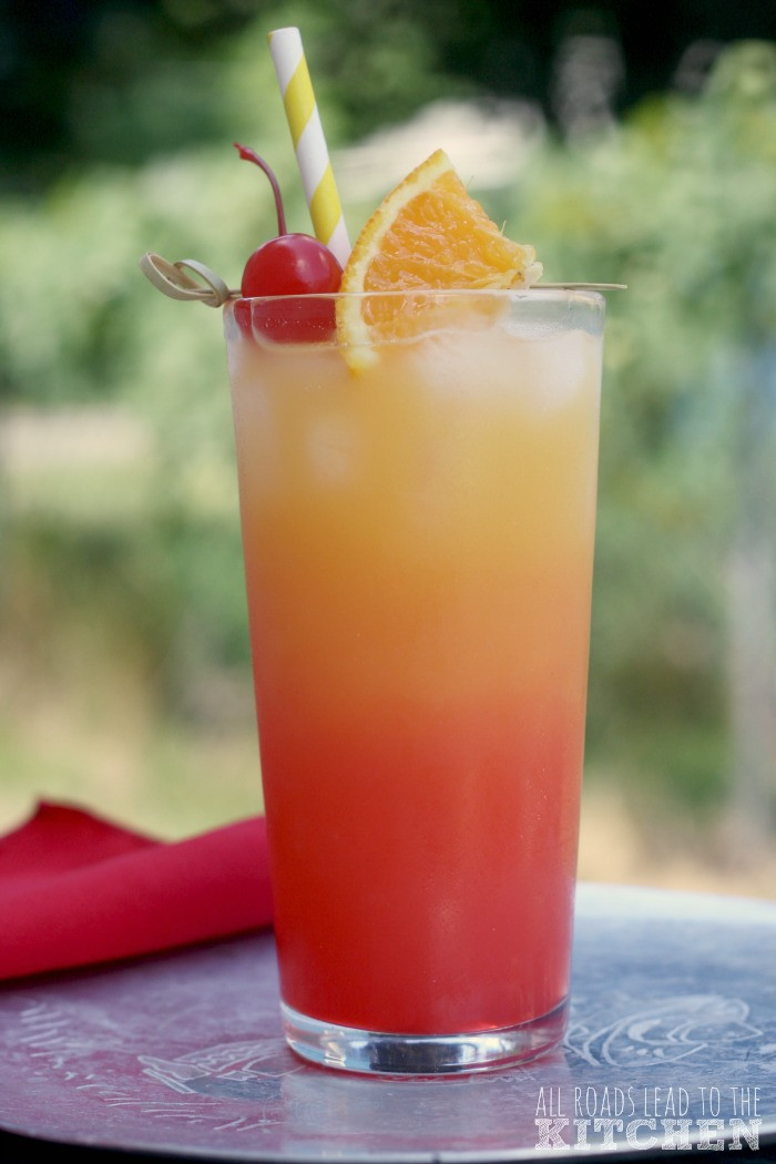 Tequila Mix Drinks  Tequila Sunrise All Roads Lead to the Kitchen