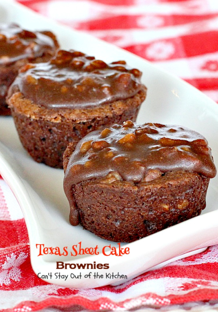 Texas Sheet Cake Brownies  Texas Sheet Cake Brownies Can t Stay Out of the Kitchen