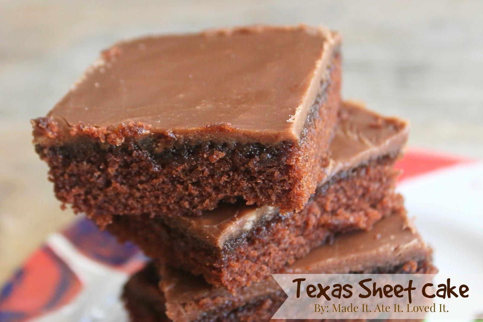 Texas Sheet Cake Brownies  Made It Ate It Loved It Texas Sheet Cake