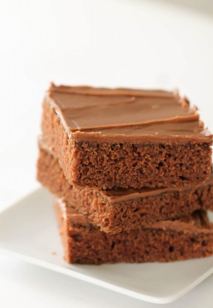 Texas Sheet Cake Brownies  Texas Sheet Cake Brownies Six Sisters Stuff