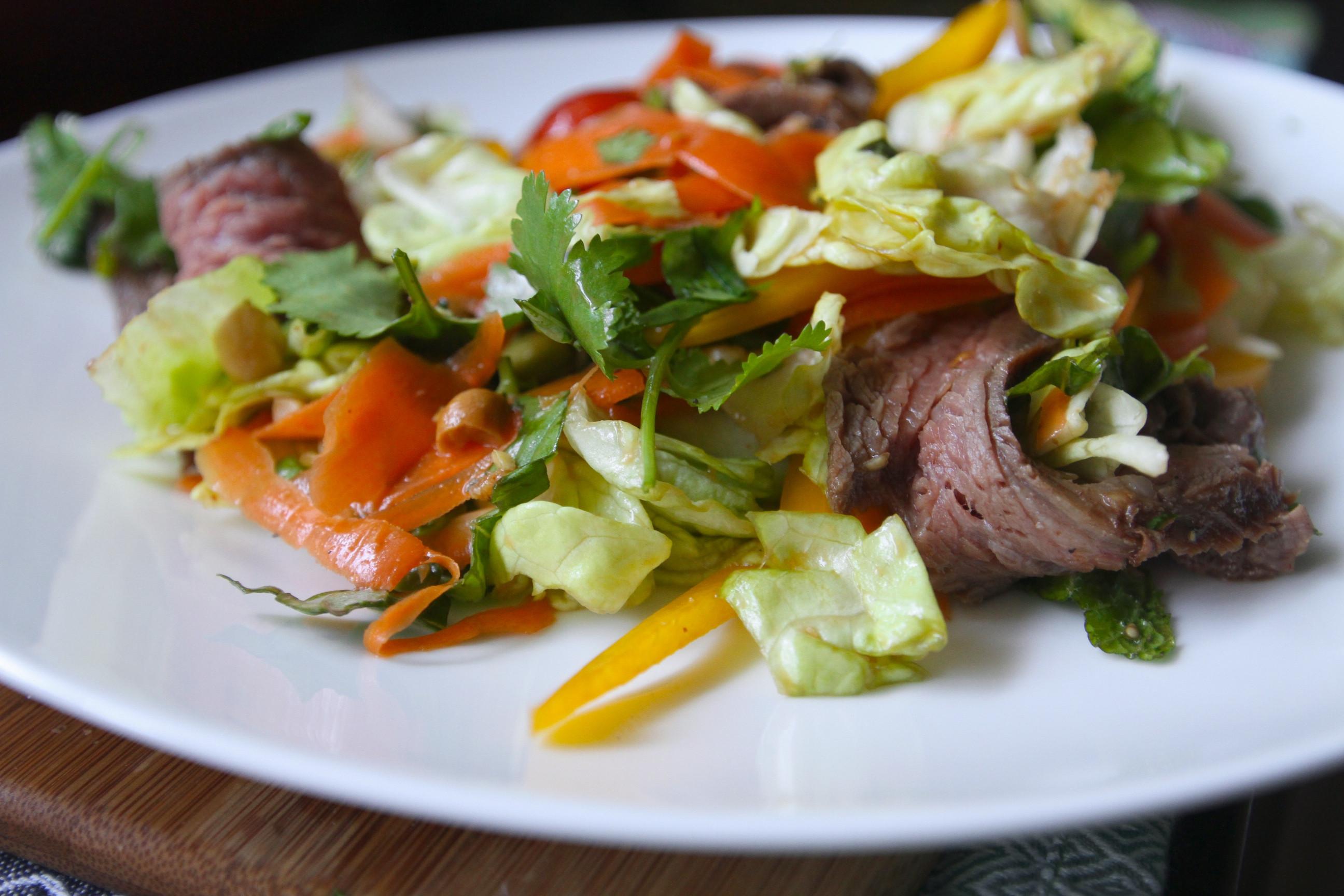 Thai Beef Salad  Thai Beef Salad with Herbs Shutterbean
