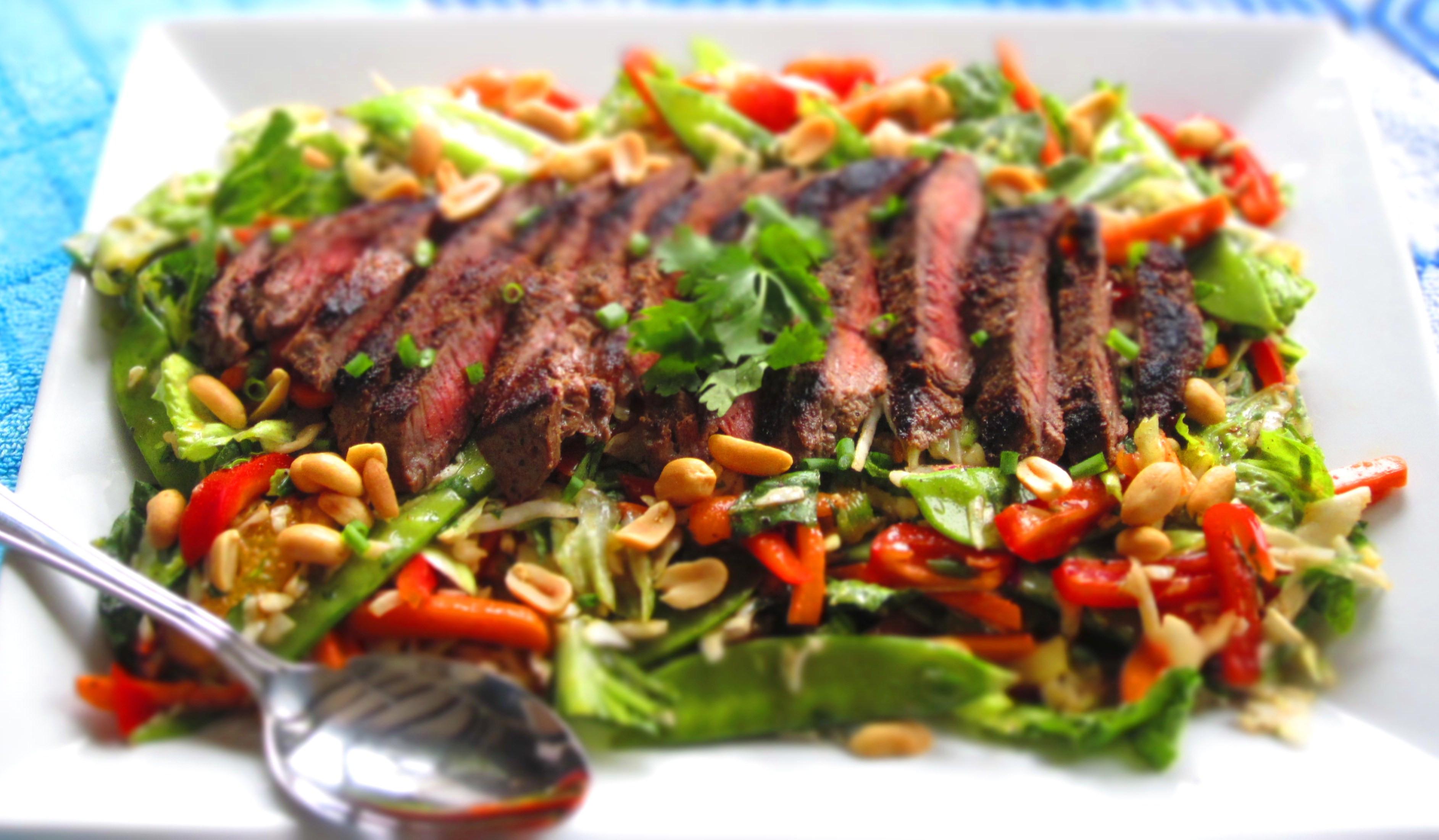 Thai Beef Salad  Asian Beef Salad with Sesame Orange Ginger Vinaigrette