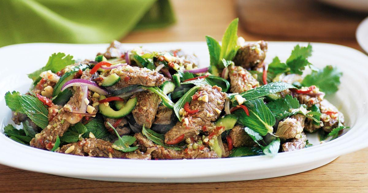 Thai Beef Salad  Thai beef salad with nam jim