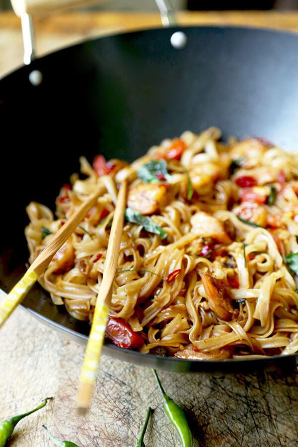 Thai Drunken Noodles Recipe  Drunken Noodles Pad Kee Mao Pickled Plum Food And Drinks