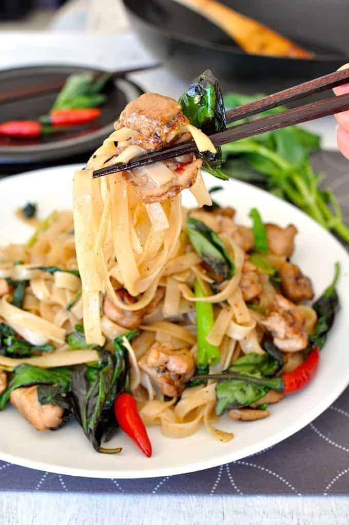 Thai Drunken Noodles Recipe  Thai Drunken Noodles Pad Kee Mao