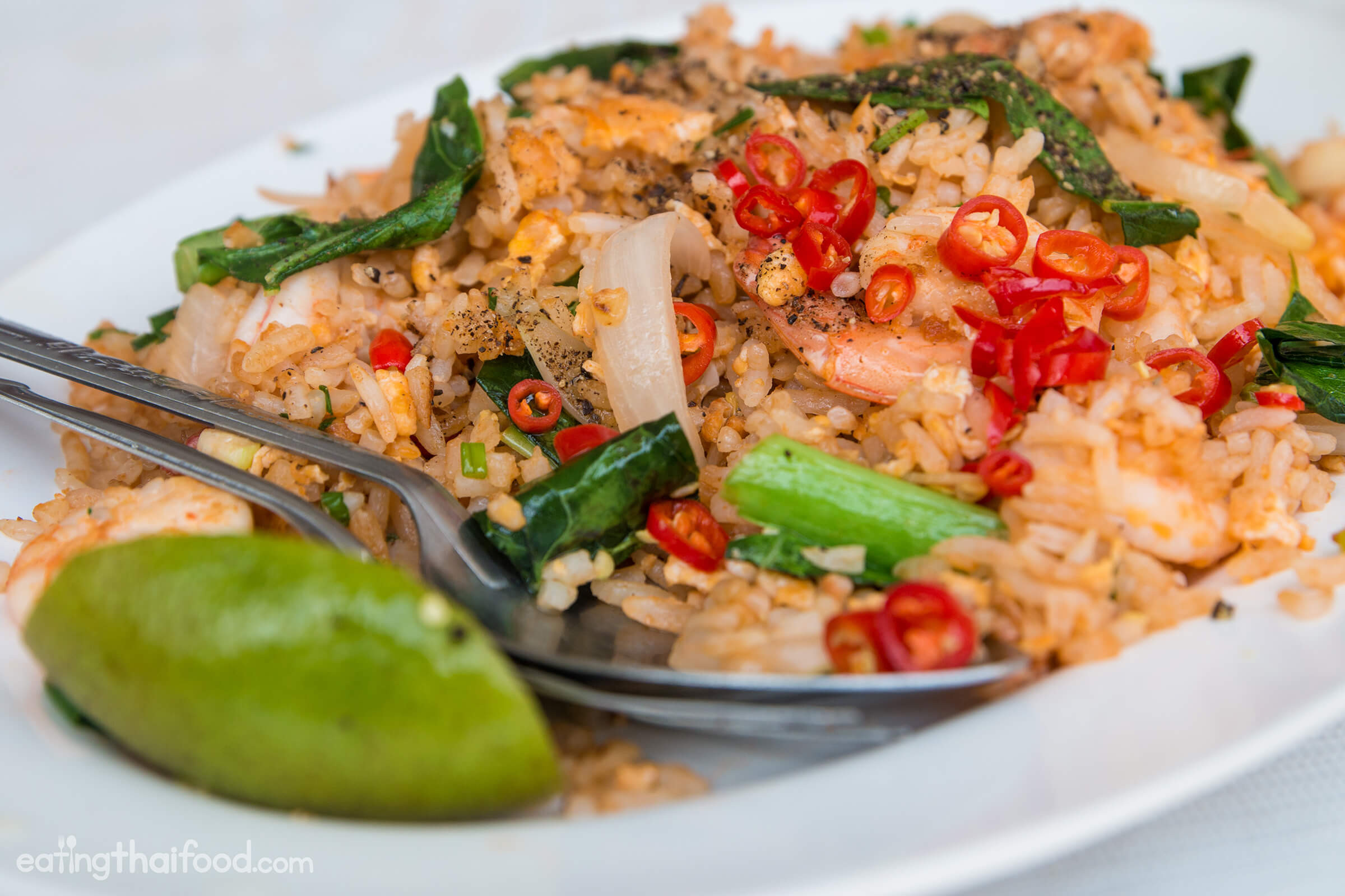 Thai Fried Rice Recipe  Authentic Thai Fried Rice Recipe ข้าวผัด Street Food