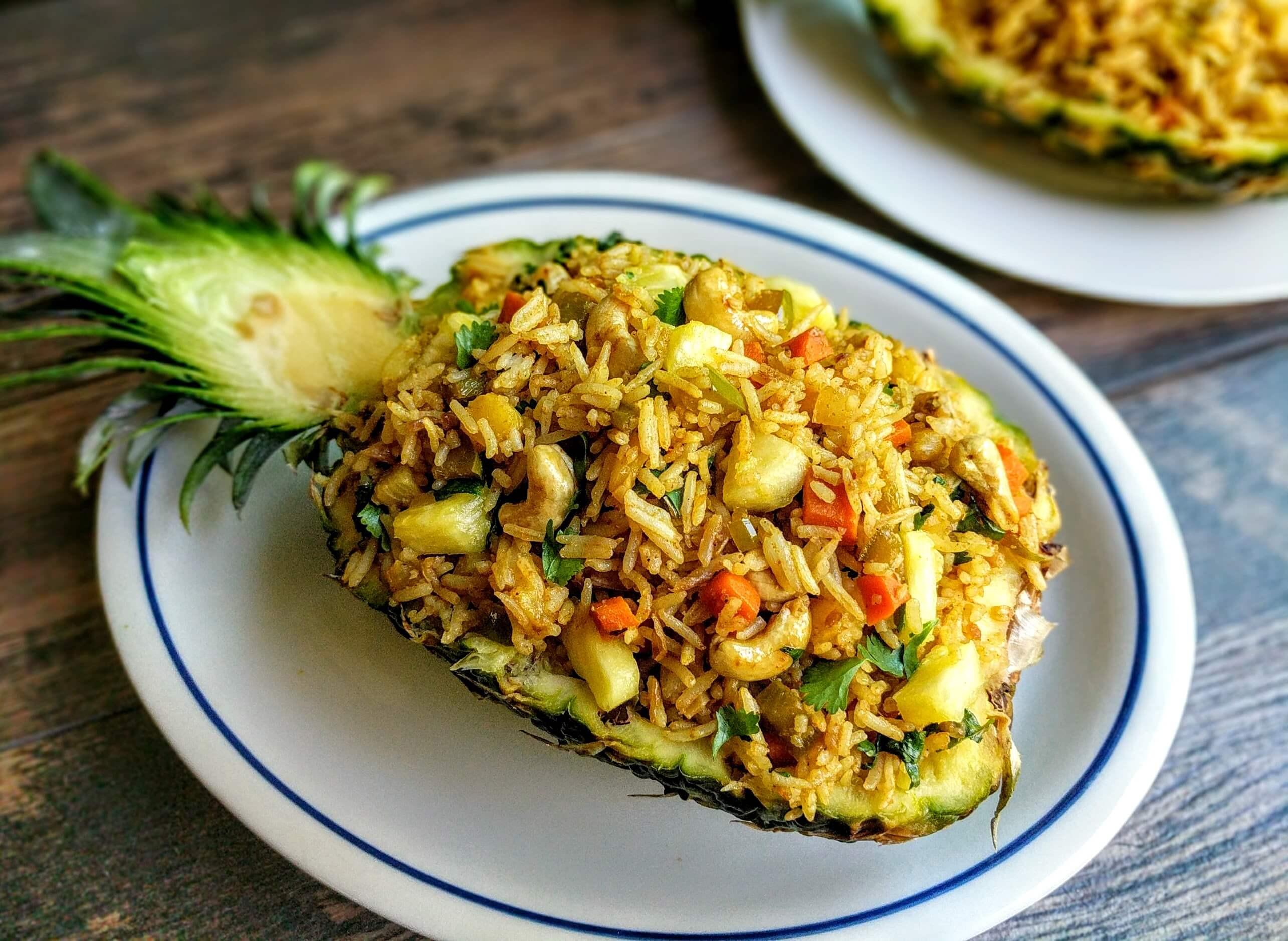 Thai Fried Rice Recipe  Pineapple Fried Rice Recipe Thai Veg Fried Rice