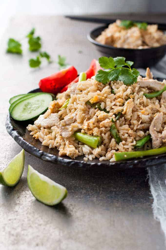 Thai Fried Rice Recipe  Thai Chicken Fried Rice