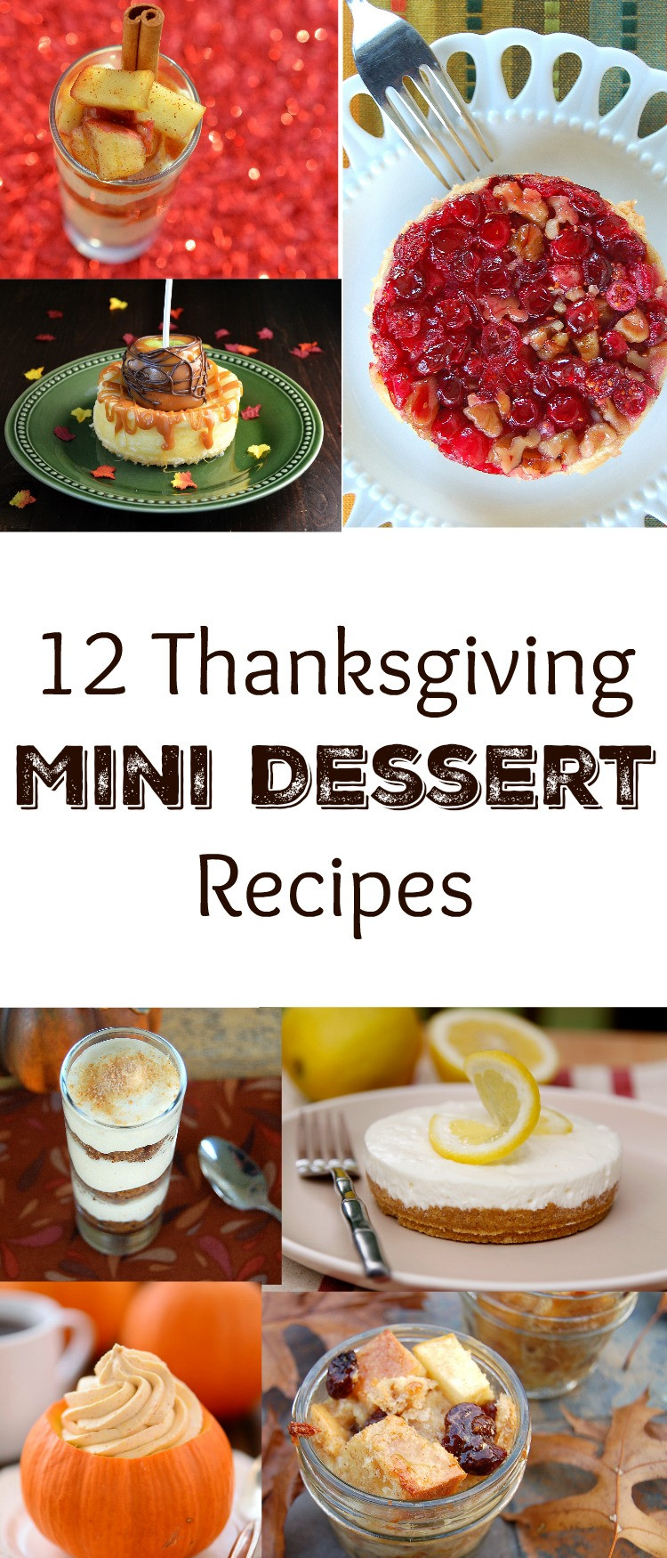 Thanksgiving Desserts Pinterest  Mini Thanksgiving Desserts