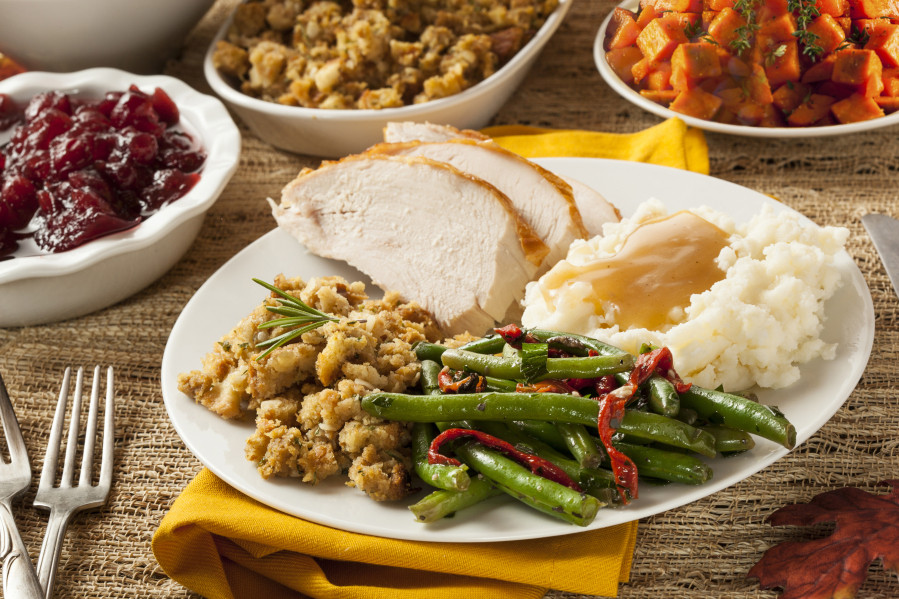 Thanksgiving Dinner Plates  Just how many calories are in that Thanksgiving meal