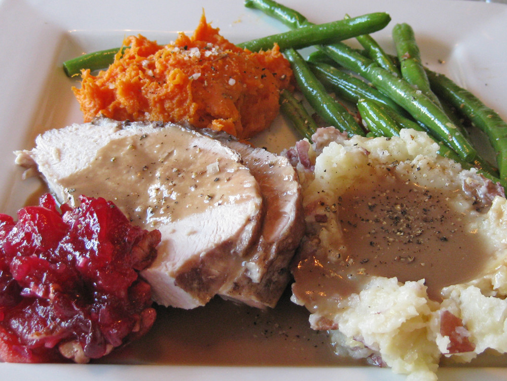 Thanksgiving Dinner Plates  A Thanksgiving Dinner without the cans y our food
