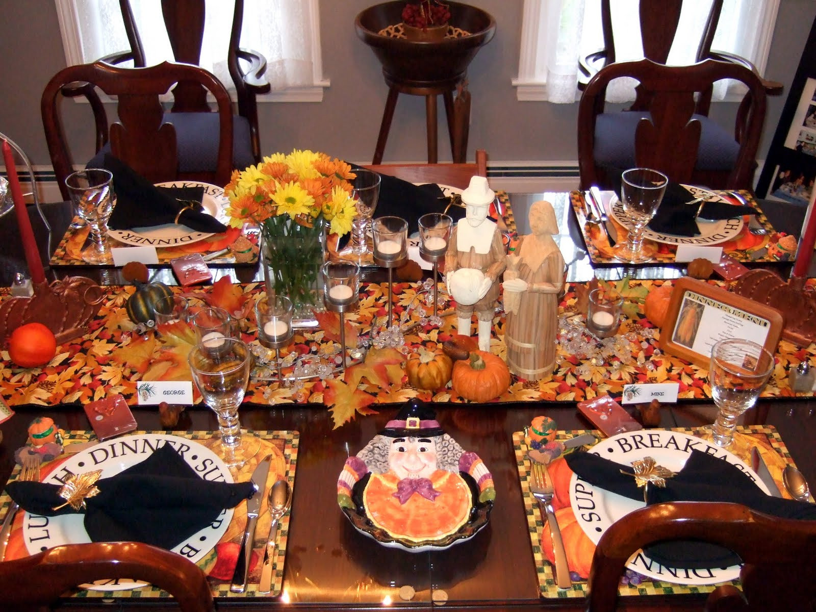 Thanksgiving Dinner Table  Dining Table Setting Dining Table Thanksgiving