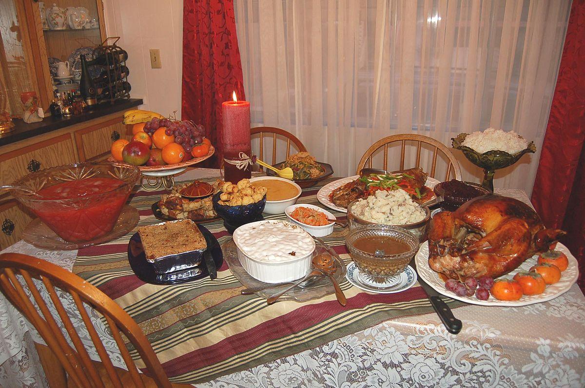 Thanksgiving Dinner Table  Thanksgiving dinner