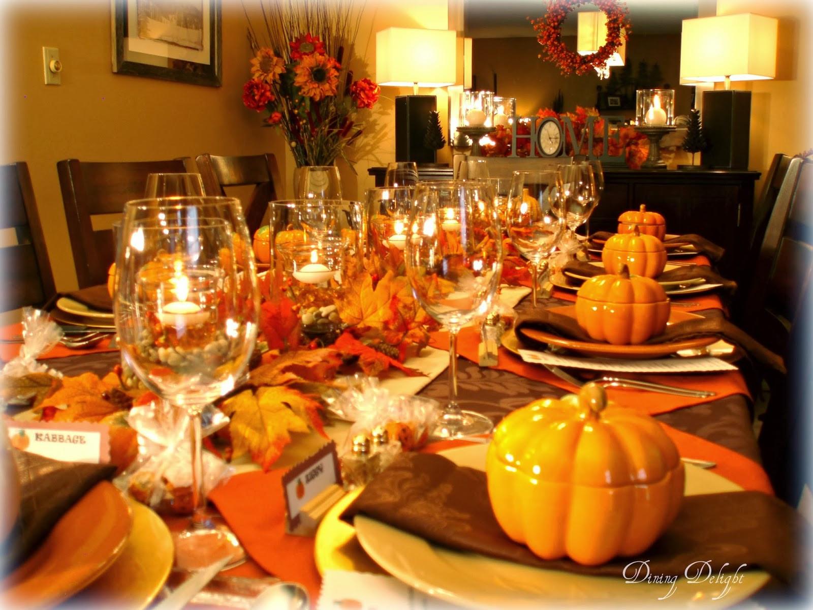 Thanksgiving Dinner Table  Dining Delight Fall Dinner Party for Ten