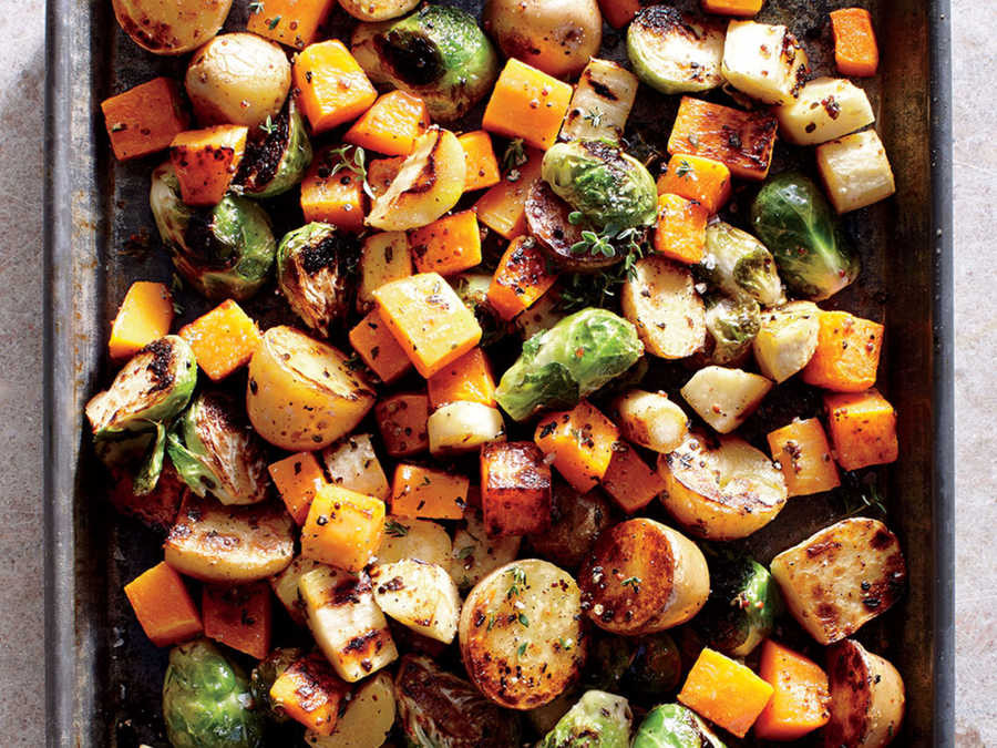Thanksgiving Roasted Vegetables  Thanksgiving Pan Roasted Ve ables